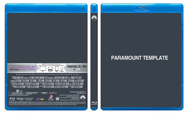 Blu Ray Cover Templates